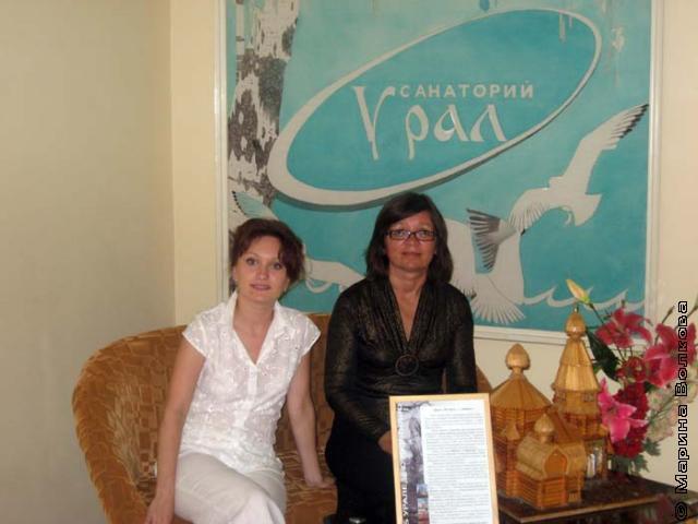 Организатор выставки Храмко Ольга и автор - Нина Ягодинцева