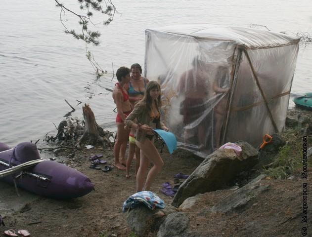 Как сделать баню в походе
