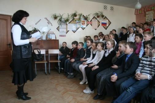 Елена Раннева в 26 школе Миасса