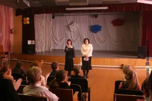 Нина Пикулева и Елена Раннева в 19-ой школе Миасса