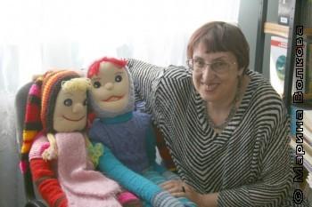 Марина Волкова в детской библиотеке Увелки