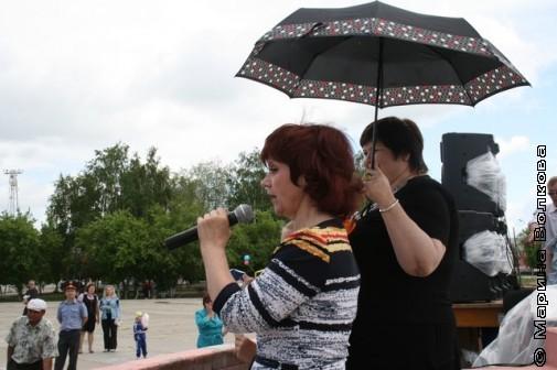 Нина Пикулева и Елена Сыч в Увельском