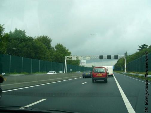Скоростная дорога в Нидерландах, август 2011