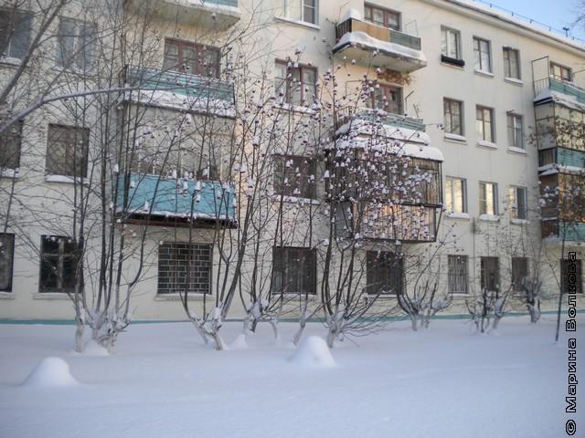 Балконы на улице Горького