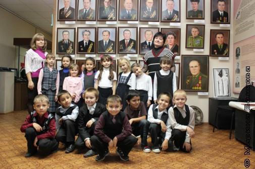 Первоклассники Долгодеревенского в музее села