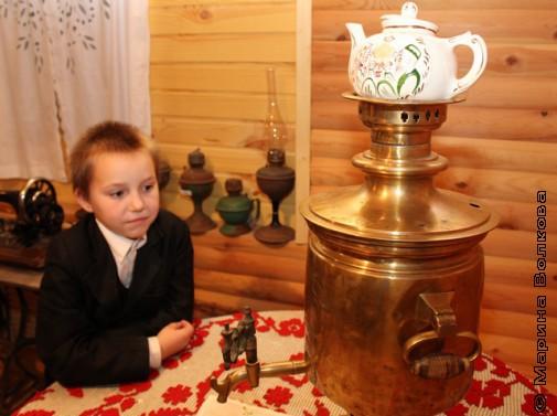 В музее села Долгодеревенское