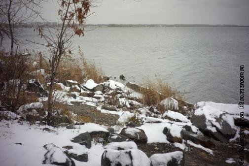 Озеро Смолино. Первый снег