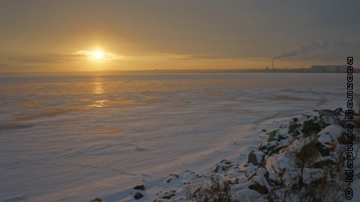 Зимний закат. Озеро Смолино