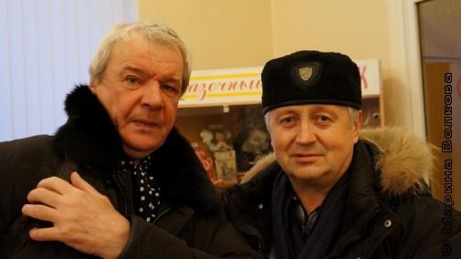 Перед выходом. Валерий Иванов и Игорь Филонов