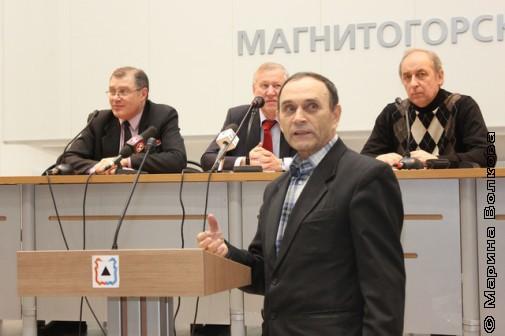 А.К.Белозёрцев на приёме у мэра Магнитогорска