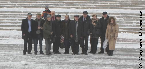 Писатели АсПУр после приёма у мэра