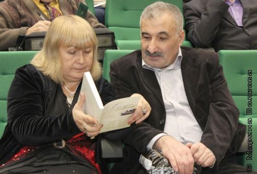 Л.У.Звонарева и К.Г-О.Гурбанов перед приемом