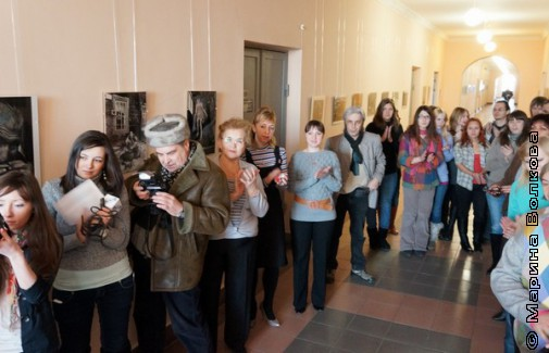 Открытие выставки Сергея Новикова