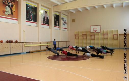спортивный зал школы