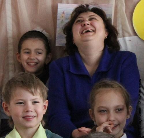 На Читательском марафоне учитель  и дети вместе