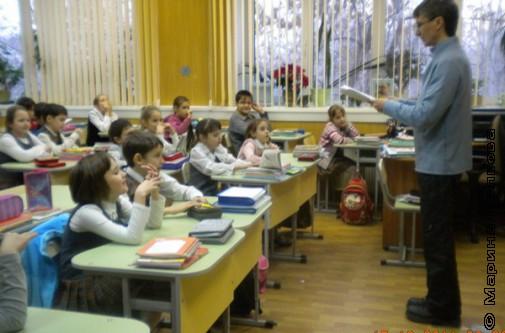 Михаил Придворов на встрече с второклассниками