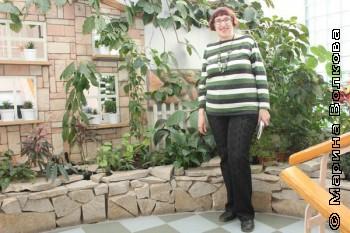 Марина Волкова в Зимнем саду гимназии