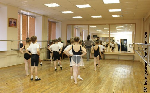 На занятии по хореографии