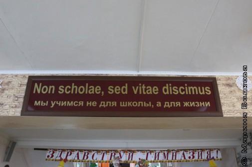 Слоган гимназии