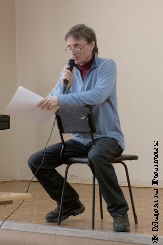 Михаил Придворов на Читательском марафоне