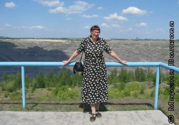 Марина Волкова у Коркинского разреза