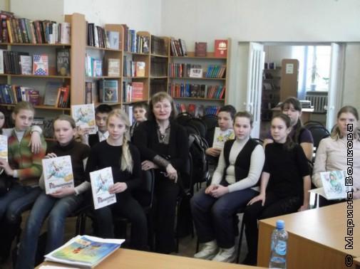 Наталья Крупина с екатеринбургскими детьми