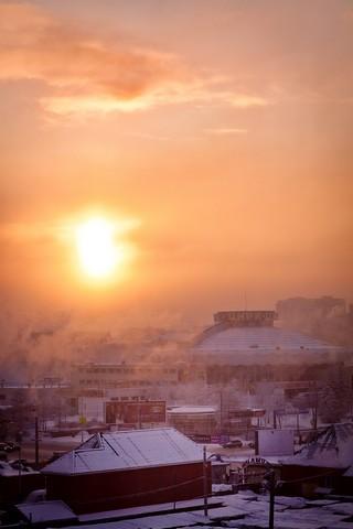 Утро над Челябинском 3 февраля