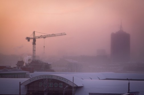 Зимнее утро в Челябинске