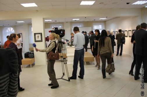 Перед открытием выставки Э.Неизвестного в Екатеринбурге