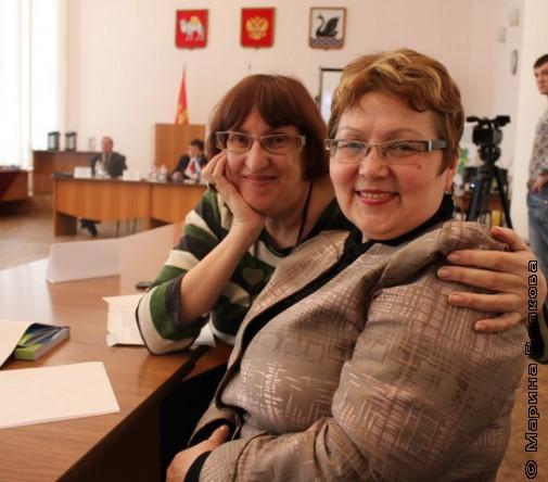Марина Волкова и Татьяна Калинина