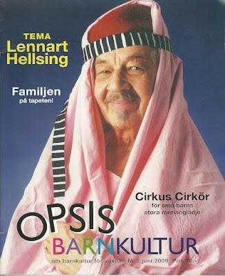 Обложка журнала о детской литературе Швеции
