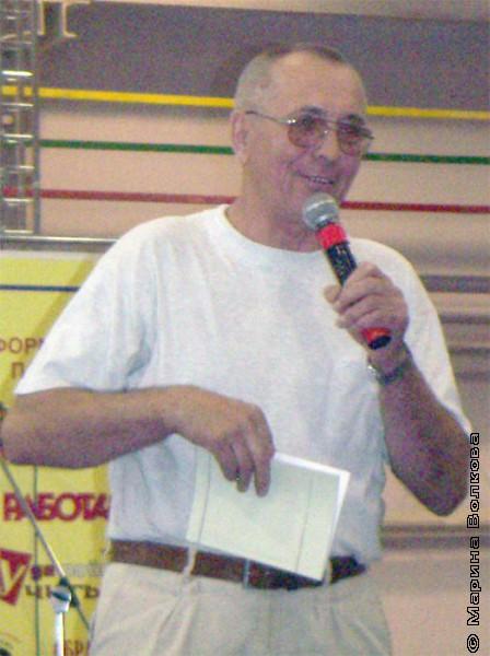 Николай Шилов на первом Читательском марафона, август 2006