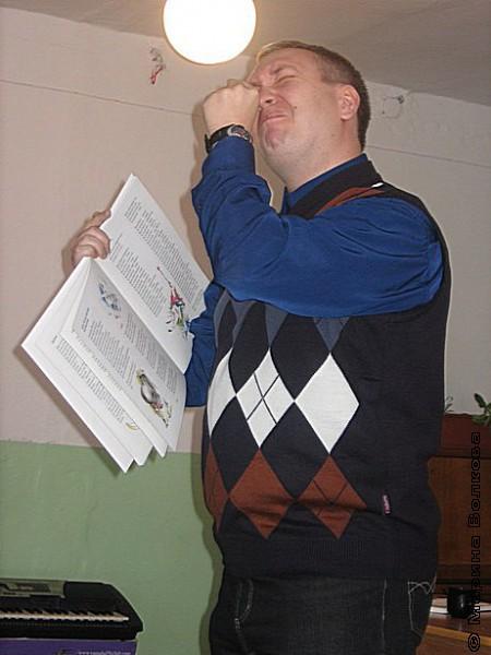 Константин Рубинский на одном из первых Читательских марафонов