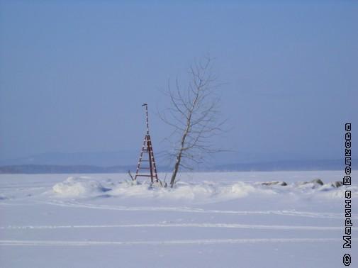 Озеро Увильды зимой