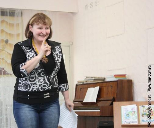 Наталья Крупина в детском саду
