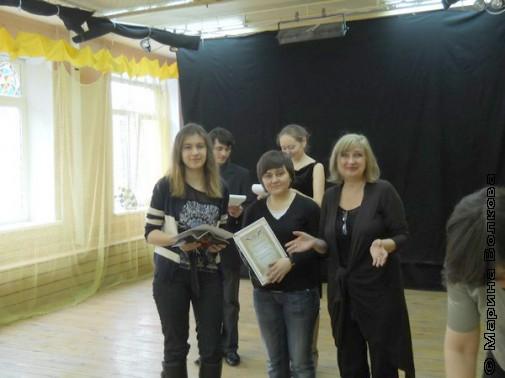Мария Гришкевич и Екатерина Юркина с дипломами за 2-ое место в поэзии
