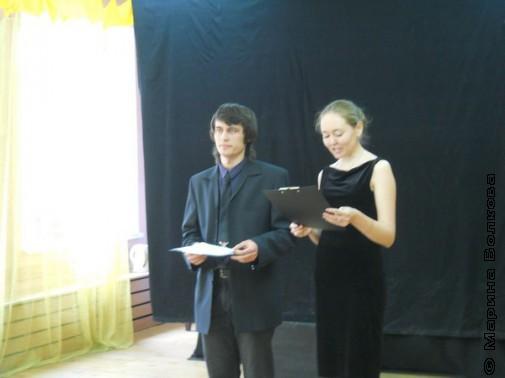 Ведущие церемонии награждения Сергей Гордиевский и Оксана Ралкова