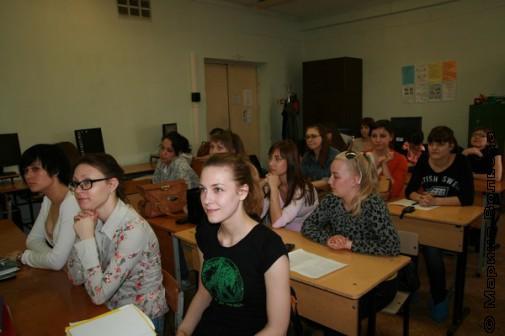 На встрече со студентами университета Екатеринбурга