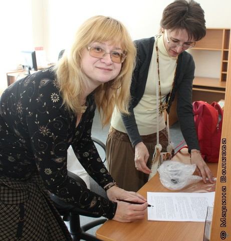 Светлана Лаврова и Ольга Колпакова успели подписать договор