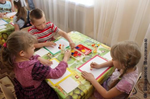 """Дети рисуют """"Солнышко"""""""