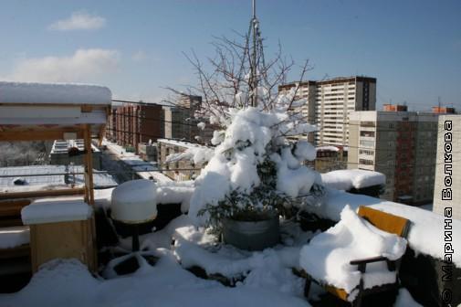Зима и на крыше зима