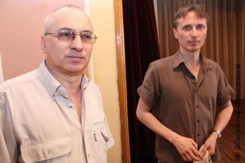 Виктор Нагдасёв и Михаил Придворов перед вечером
