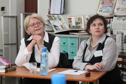 Наталья Шмидт и Ирина Бачурина - ведущие круглого стола