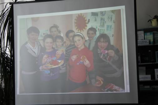 Фрагмент презентации библиотеки поселка Горняк