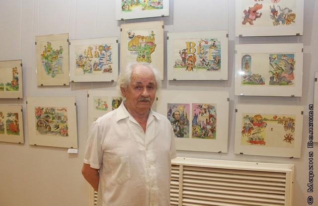 На открытии выставки Анатолия Гилёва