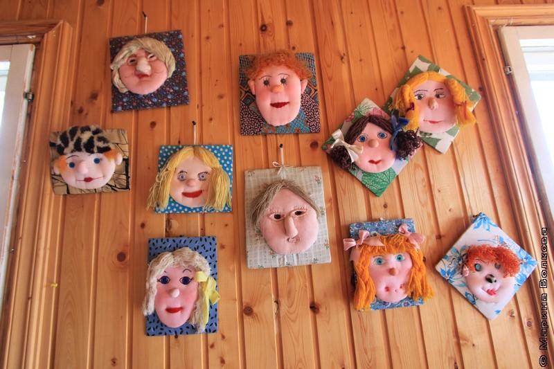 Куклы сделаны детьми на мастер-классе