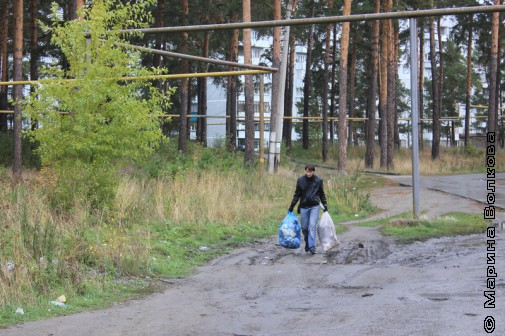 Участник уборки страны