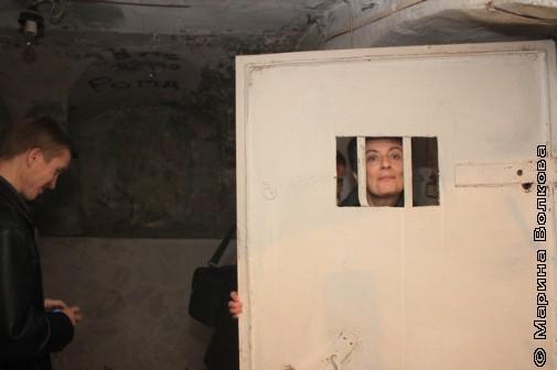 Ирина Аргутина в подземелье Малой Герценки