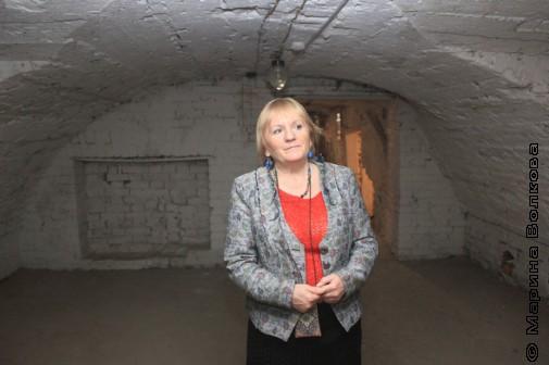 Наталья Шоломова, библиотекарь Малой Герценки, в родном подземелье