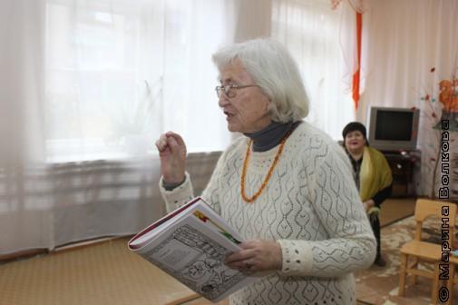 Северина Школьникова на Читательском марафоне в детском саду Кусы